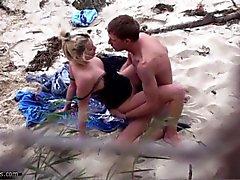 Couple fucking on the beach