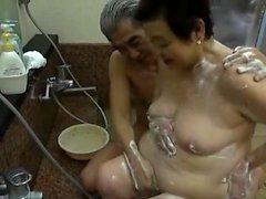 Asiatiska japanska mogna i anal play