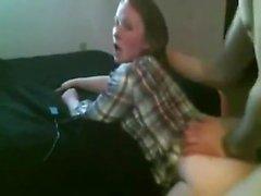 Aitoon Kotivideot blondi tyttö Doggystyled