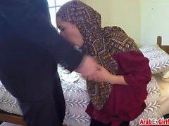 Lovely Arab girl fucks stranger in hotel