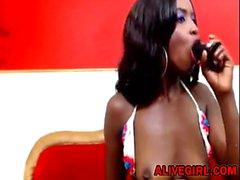 Ebony LorraineEvans fode ALIVEGIRL cremosa e esguichando