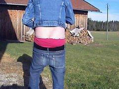 Pudottaminen Levi bootcut , PVC buckle , lyhyt takki