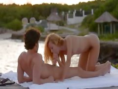 Pussy licking and banging by the sea