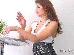 Money slave and ashtray for Mistress Natascha