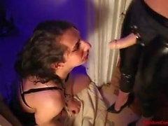 Mistress uses sissy male