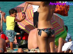 Amateur Topless Beach Teens Hidden Cam Video