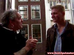 Real Dutch hooker cocksucking tourist