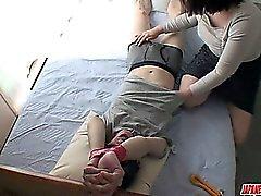 Cock-craving and kinky MILF pervert Rica Shibuki toying and banged hard