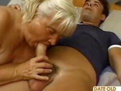Çirkin Yağ Büyükanne Banging