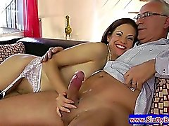 Teen amateur in stockings fucked in her tight pussy