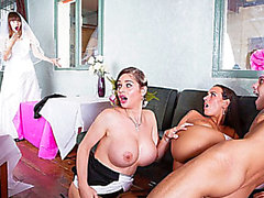 Cheating bridesmaid Mea and menacing Mother I'd Like To Fuck Cathy acquires fuck hard in 3some sex