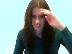 Webcam tekrar verilen solo Esmer College Camgirl Mastürbasyon