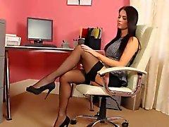 sexretary with amzing darkhair hair movie