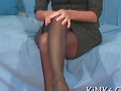 Beautiful quim in fancy tights