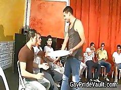 Indoor gay Gangbang vittu fest