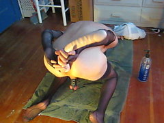 Kinky Сесси Dildo Gape
