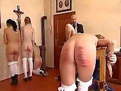 Naughty schoolgirls on the bench