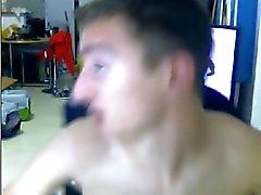 Francese , 2 ragazzi maschi avere rapporti sessuali , sborrate in la bocca ( Webcam )