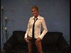 Melissa lincoln blonde slut striptease office assistant cam