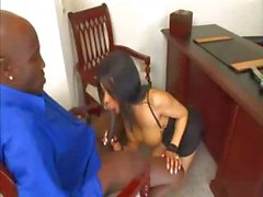 Ebony Alicia drilled in the office