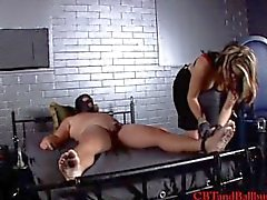 CBT confused man tied up and tortured by Domanatrix