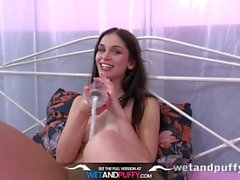 Wetandpuffy - Double penetration toying for gorgeous brunette Ann O Fee