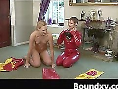 Weird Latex Gal Masochiatic Makeout