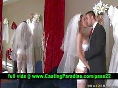Kayla Paige stunning busty bride