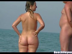 Hairy Pussy Curvy Nudist Milfs Beach Voyeur Spy Cam Video HD