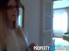 PropertySex - Leggy Hungarian estate agent fucks British client