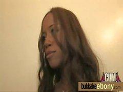 Bukkake ebony babe group fucking 21