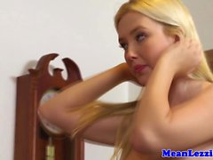Lesbian teen Samantha Rone gets dominated
