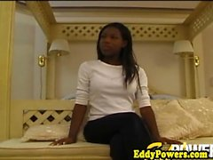 Real ebony debutante assfucked by old male