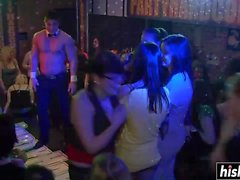 Sweet chicks have fun at the party