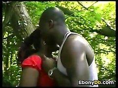 Black Couple Fucking Outside