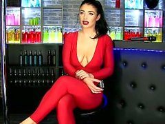 scarlet bouvier s66 red catsuit