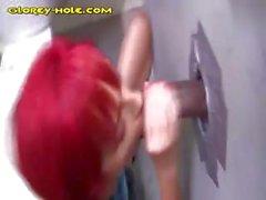 Redhead Strokes For Black Cum