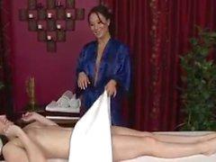 A lusty lesbian massage