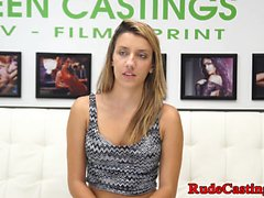 Brutal casting audition for beautiful teen