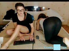 Russian girls chill webcam