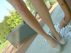 Givemepink Blond with perky tits pleasures herself to multiple orgasms with her fingers