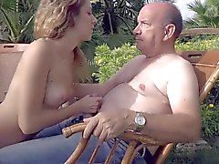 Big belly rich old man fucking his nymph girl