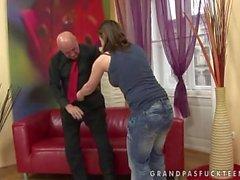Old Man Seduced By Teen