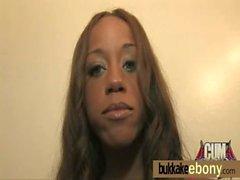 Interracial bukkake with a horny sexy ebony 25