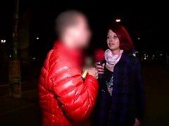 Redhead slut enjoys fucking with random guys