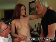 Nubiles threesome Minnie Manga gobbles breakfast with John a