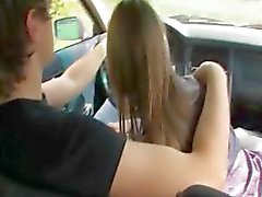 18yo russian girl banged on the car