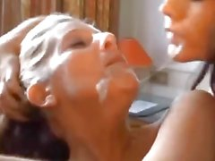 Busty Mature babes Smoke and Suck Cock
