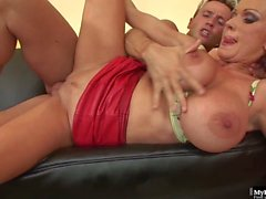 Sharon Pink has no problem taking any dudes penis up her ratchet snatch,