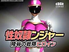 Big boobed anime sankari super kuuma tiukka puku
